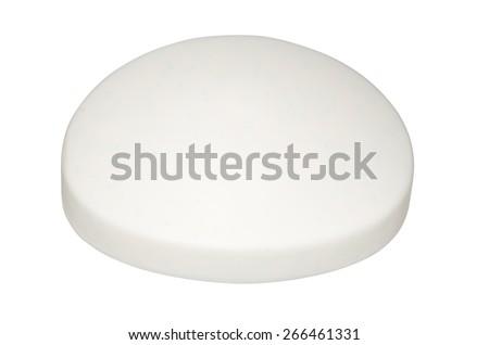 Bar of white Soap isolated on white background - stock photo