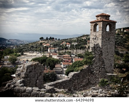 Bar old town in Montenegro - stock photo