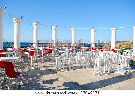 bar on the beach - stock photo