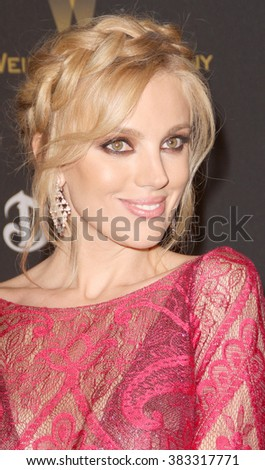 Bar Paly  arrives at the Weinstein Company and Netflix 2016 Golden Globes After Party on Sunday, January 10, 2016 at the Beverly Hilton Hotel in Beverly Hills, CA.  - stock photo