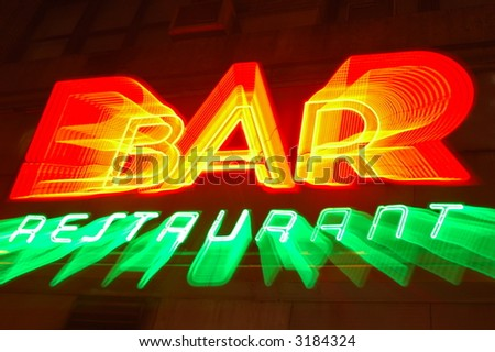 Bar & Restaurant Sign (abstract) - stock photo