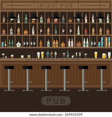 Pub interior stock photos images pictures shutterstock for Equipement bar restaurant