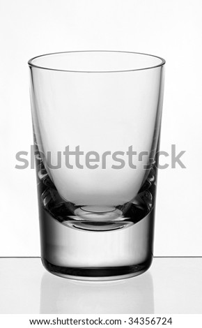 bar snaps glass isolated clean