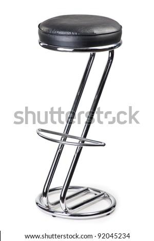bar stool isolaetd on white background - stock photo
