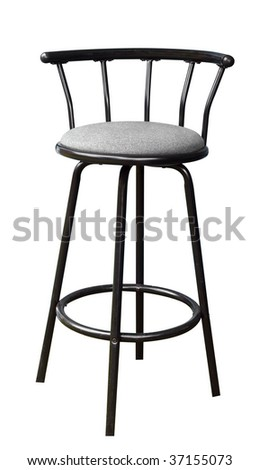 Bar Stool isolated with clipping path - stock photo