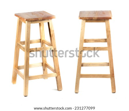 Bar Stools on white background - stock photo