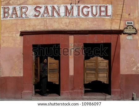 Bar with swinging doors in San Miguel de Allende Mexico & Bar Swinging Doors San Miguel De Stock Photo 10986097 - Shutterstock pezcame.com