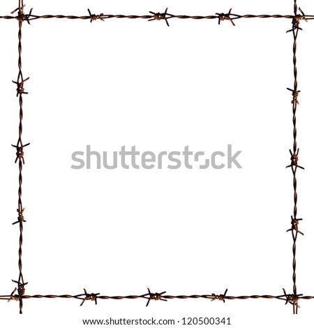 Barb frame. - stock photo
