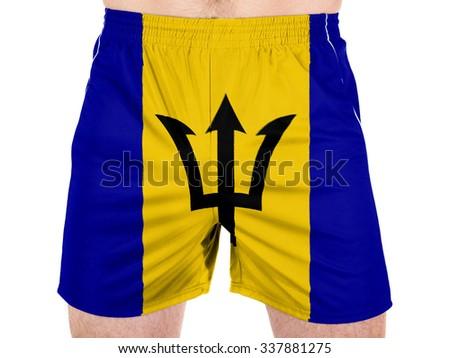 Barbados. Barbadian flag - stock photo