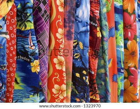 Barbados Scarves I - stock photo