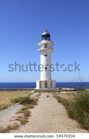 Barbaria lighthouse formentera Balearic islands blue sunny mediterranean day