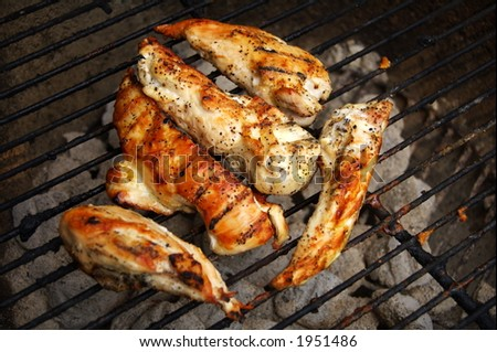 barbecue chicken on the grill