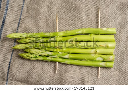 Barbecue green asparagus - stock photo