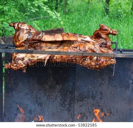 barbecue pork - stock photo