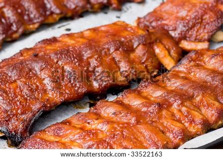 Barbecue ribs - stock photo