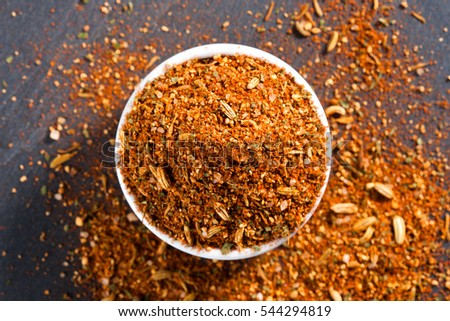Barbecue Rub spices mix texture