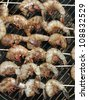 Barbecue shrimp - stock photo