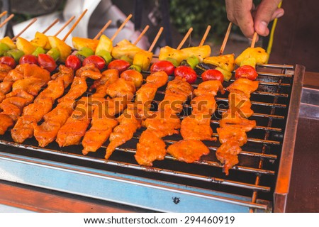 barbecue thai street food style
