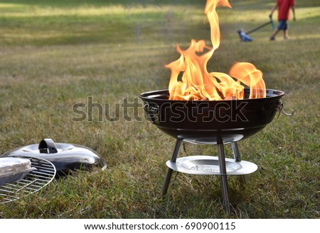 Barbecue time in summer