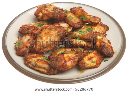 Barbecued Chicken wings - stock photo