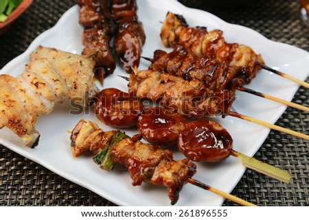 Barbecued chicken/Yakitori/Japanese food