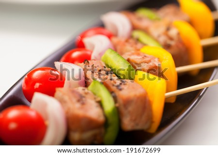 Barbecued pork. - stock photo