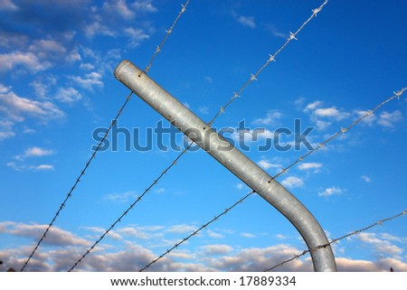 barbed secure fence