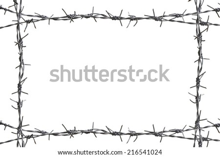 Barbed Wire Border Stock Photo (Royalty Free) 216541024 - Shutterstock
