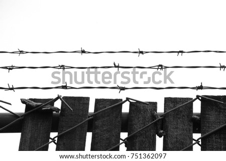 Barbed Wire Fence Concentration Germany Stock Photo 751362097 ...