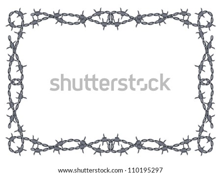 Barbed Wire Frame Isolated Stock Illustration 110195297 - Shutterstock