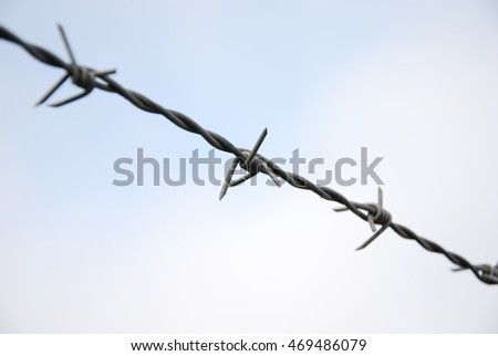 Barbed wire in the sky