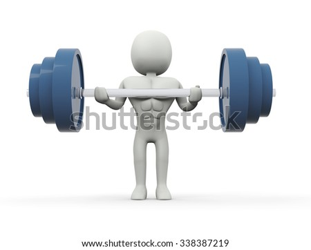 Barbell - stock photo