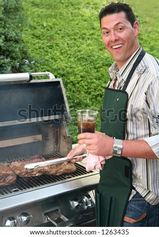 Barbeque tri tip at sunday afernoon party - stock photo