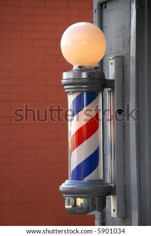 Barber Pole on Small Town Barber Shop