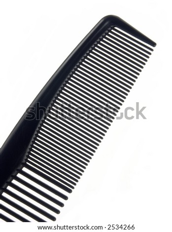 Barber's comb isolated on white background. - stock photo
