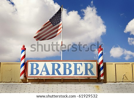 Barber sign and pole