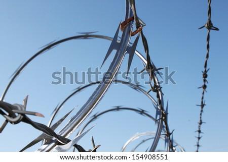 Barbwire - stock photo