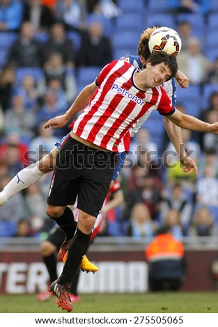 BARCELONA - APRIL, 12: Mikel San Jose of Athletic Club Bilbao during a Spanish League match against RCD Espanyol at the Power8 Stadium on April 12 2015 in Barcelona Spain - stock photo