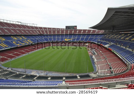 BARCELONA - AUGUST 7:  Nou Camp stadium where FC Barcelona plays official matches, March 7, 2009 in Barcelona, Spain.