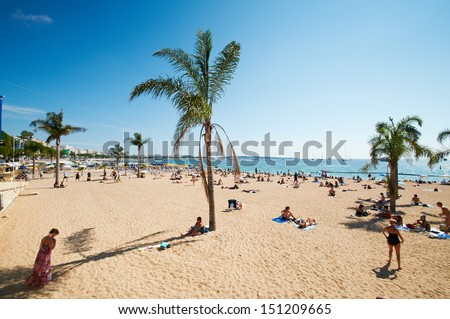 Barcelona Beach, Spain - stock photo