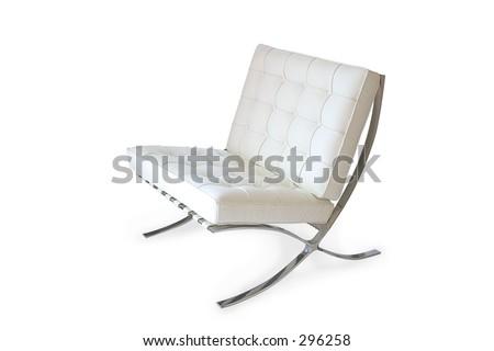Barcelona chair - stock photo