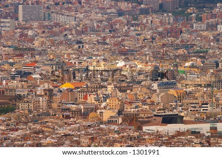 Barcelona cityscape, Europe - stock photo