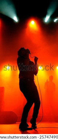 BARCELONA - DEC 10: Friendly Fires (band) performs at Razzmatazz on December 10, 2011 in Barcelona, Spain.