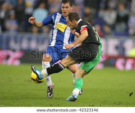 BARCELONA - DEC. 6: Munitis of Santander in action during a Spanish League match against RCD Espanyol at the Estadi Cornella-El Prat on December 6, 2009 in Barcelona, Spain