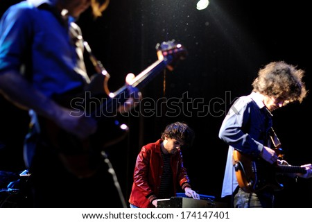 BARCELONA - FEB 19: Polock (Spanish band) performs at Apolo stage on February 19, 2011 in Barcelona, Spain.