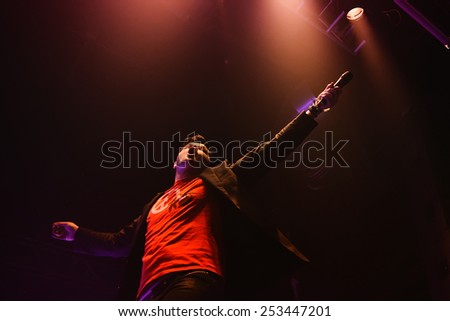 BARCELONA - FEB 12: The Script performs at Razzmatazz on February 12, 2011 in Barcelona, Spain. - stock photo