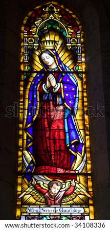 Barcelona -hl. Mary mother of God from church Sagrad cor de Jesus Guadalupe - stock photo