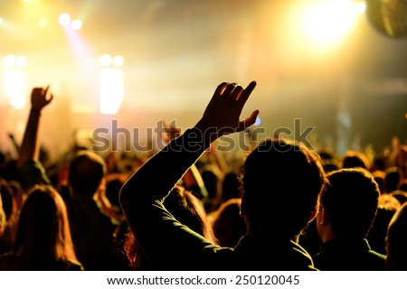 BARCELONA - JAN 29: Crowd  in a concert at Razzmatazz venue on January 29, 2015 in Barcelona, Spain.