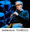 BARCELONA – JANUARY 01: Woody Allen and his New Orleans Jazz Band plays at the Gran Teatre del Liceu on January 01, 2008 in Barcelona, Spain. - stock photo