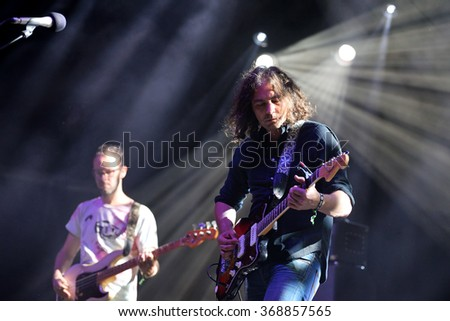 BARCELONA - JUL 3: The War on Drugs (band) in concert at Vida Festival on July 3, 2015 in Barcelona, Spain.
